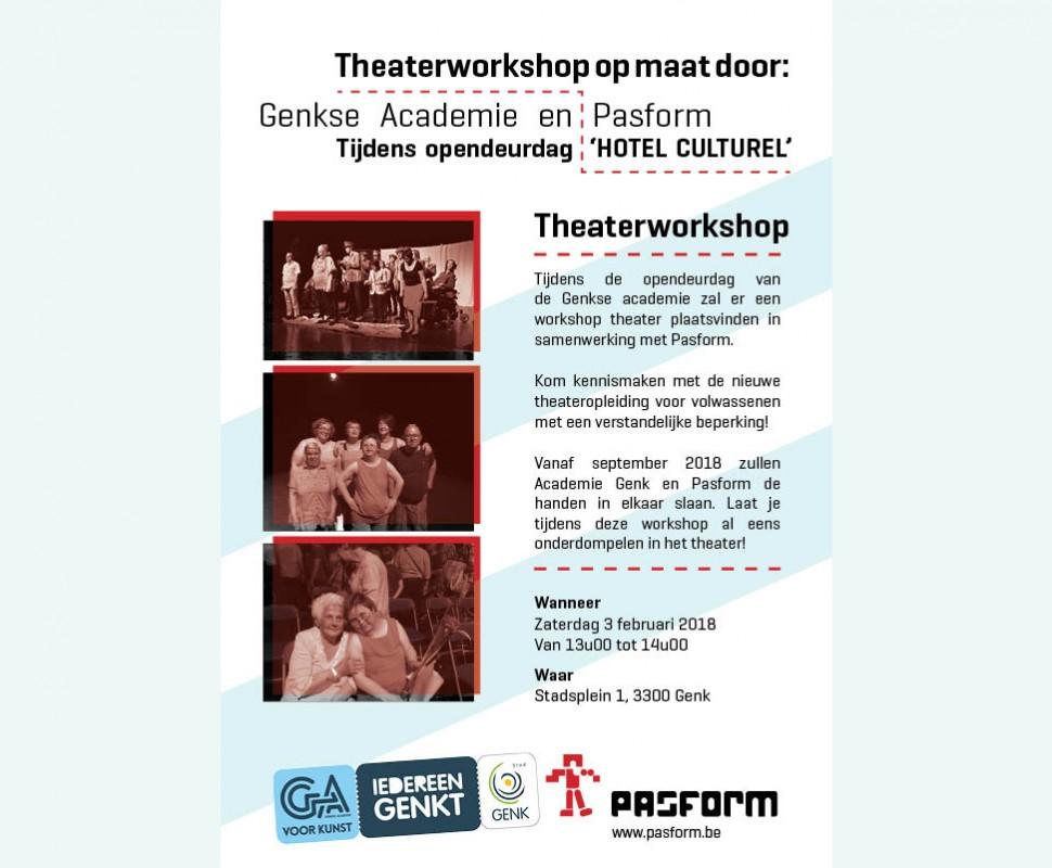 Gratis Theaterworkshop in Genk