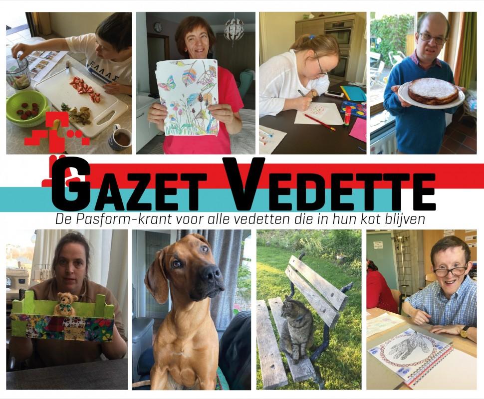 Gazet Vedette is een krant boordevol activiteiten die er zéker voor zorgen dat jij je niet verveelt in uw kot!